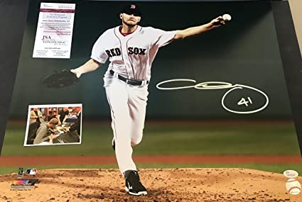 19e9adec487 Chris Sale Boston Red Sox Autographed Signed 16x20 JSA WITNESS COA ...