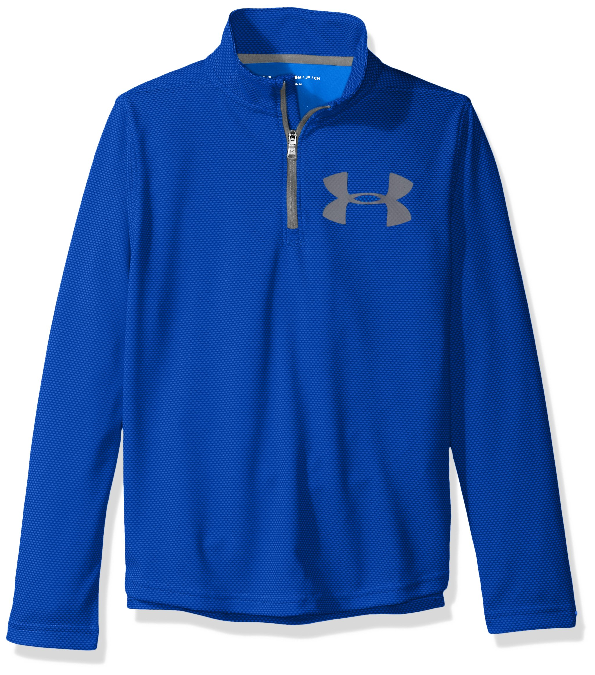 Under Armour Boys' Tech Textured ¼ Zip,Ultra Blue /Graphite, Youth Small by Under Armour