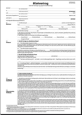 Sigel Mv064 Mietvertrag Vordruck Für Wohnungen Din A4 4 Stück Mit