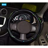 NIKAVI Diamond Steering Wheel Cover for All Cars - 15 inch (Approx) (Green)