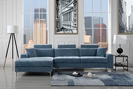 Charmant Modern Large Velvet Sectional Sofa, L Shape Couch With Extra Wide Chaise  Lounge (