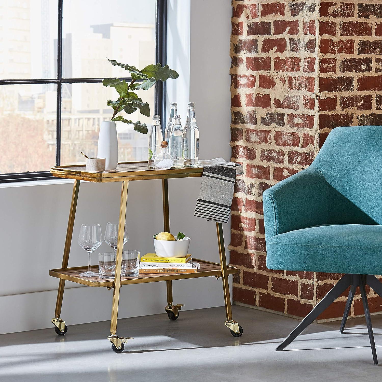largeur 66/cm Chaise baquet de bureau pivotante /à accoudoirs arrondis Marque  -/Rivet Turquoise style vintage