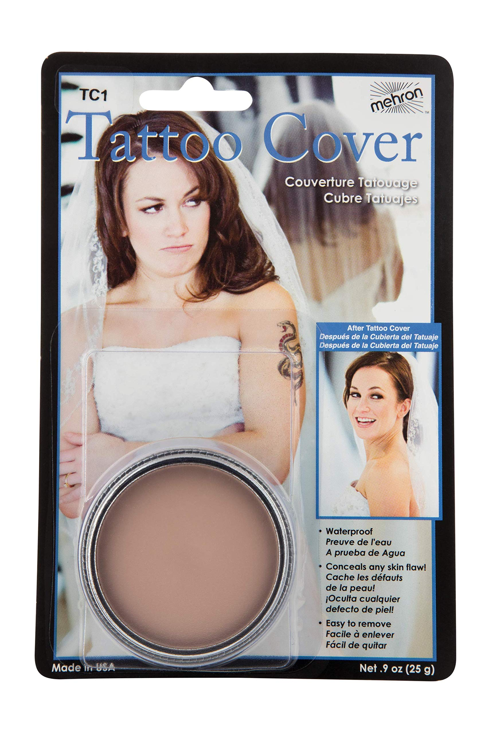 Mehron Makeup Tattoo Cover (.9 oz) (Lightest Color)