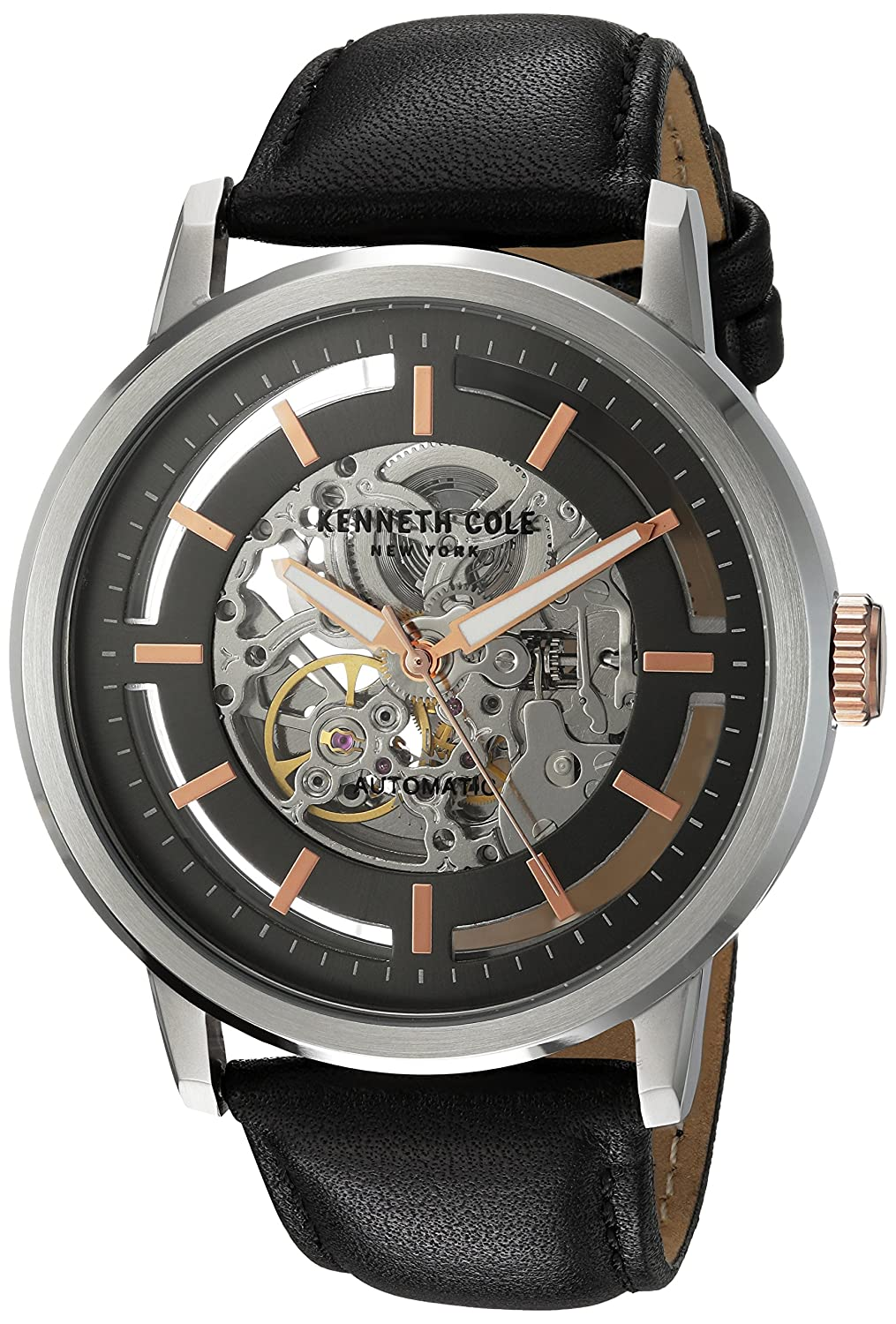 ceca4950f23 Amazon.com  Kenneth Cole New York Men s 10026782 Automatic Analog Display  Japanese Automatic Black Watch  Watches