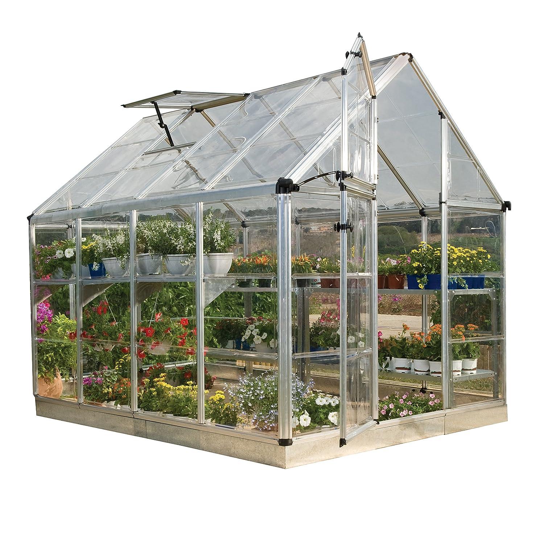 amazon com palram snap u0026 grow 6 u0027 series hobby greenhouse 6 x 8