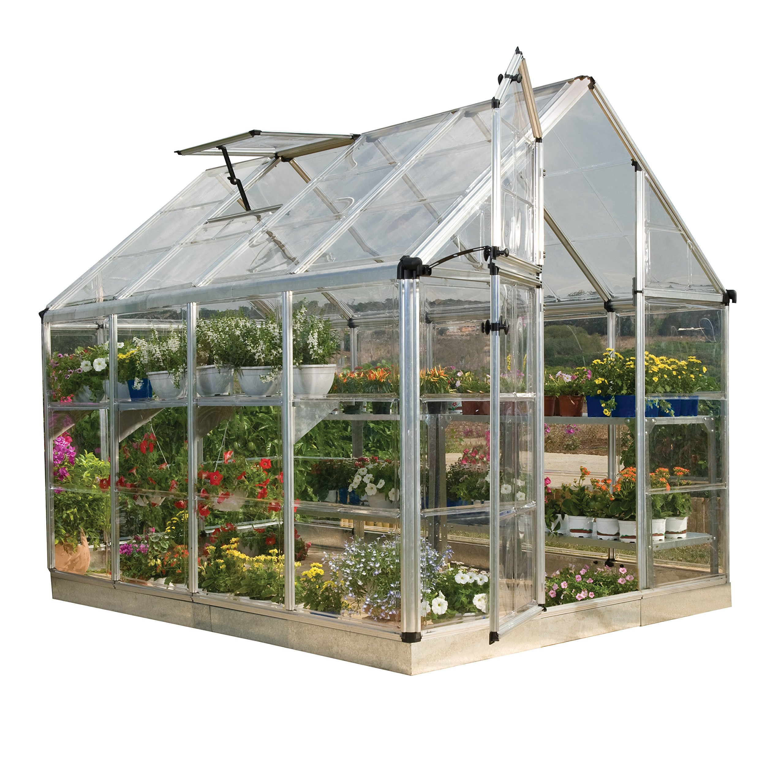 Palram Snap & Grow 6' Series Hobby Greenhouse - 6 x 8 x 7 Silver by Palram