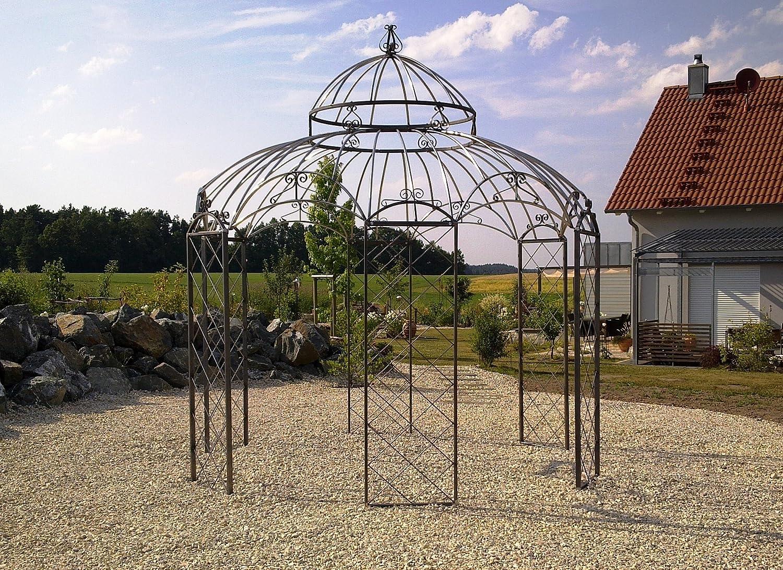 NEU STABILER Pavillon Rosenspalier Pergola Rost Ø340cm