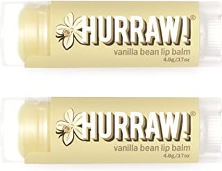 product image for Hurraw! Vanilla Bean Lip Balm, 2 Pack: Organic, Certified Vegan, Cruelty and Gluten Free. Non-GMO, 100% Natural Ingredients. Bee, Shea, Soy and Palm Free. Made in USA