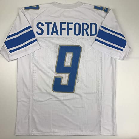 cc8d1cef6a2 Unsigned Matthew Stafford Detroit White Custom Stitched Football Jersey Size  XL New No Brands Logos