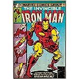 Silver Buffalo MC1536 Marvel Iron Man Hammer MDF Wood Wall Art, 13 x 19 inches