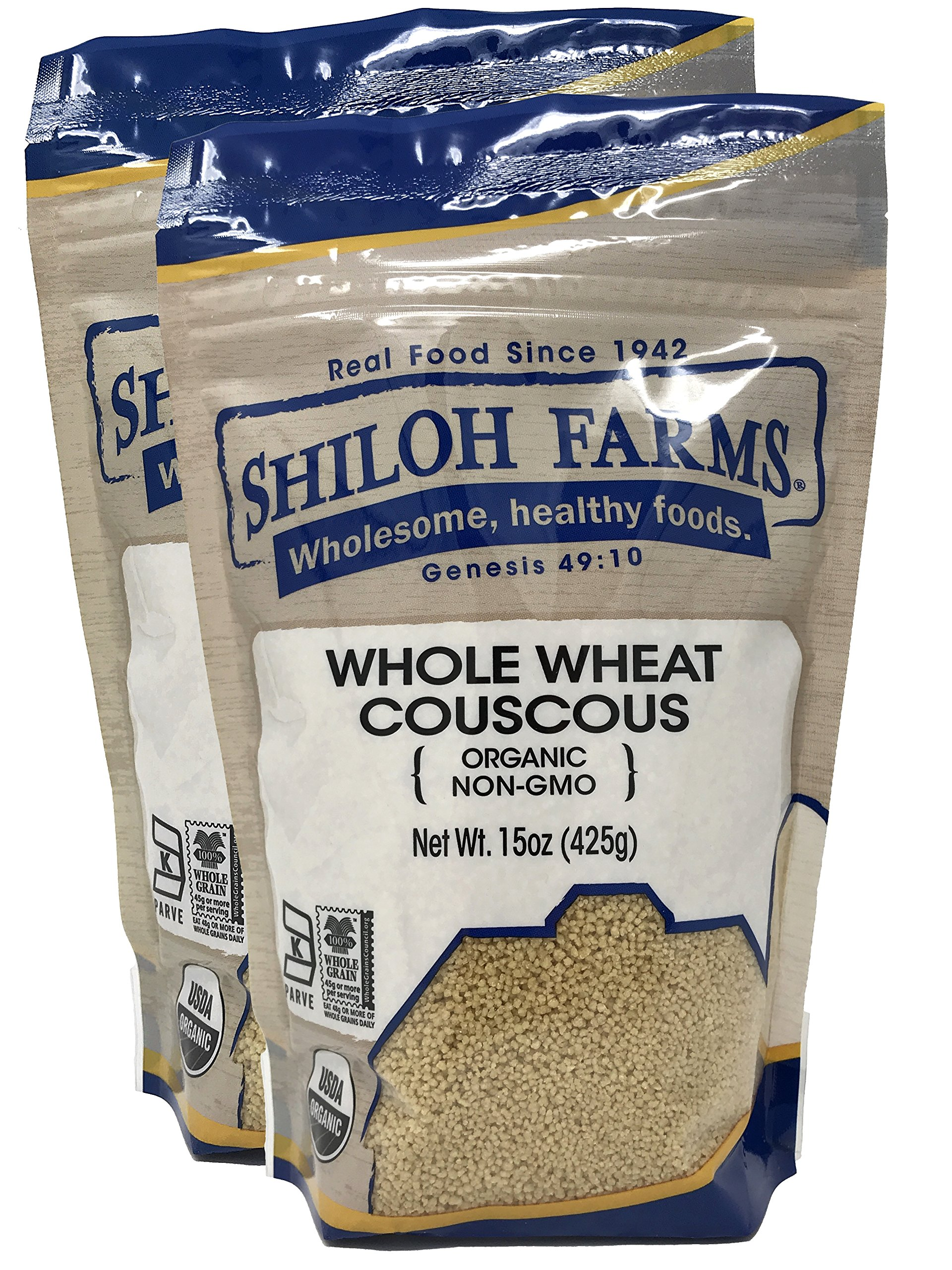 Shiloh Farms - Organic Whole Wheat Couscous 15 oz - 2 pack