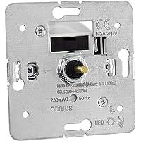 Universal Dreh-Dimmer OBRIUS für dimmbare LED Leuchtmittel, 0-100W (Stift Ø 4mm/6mm)