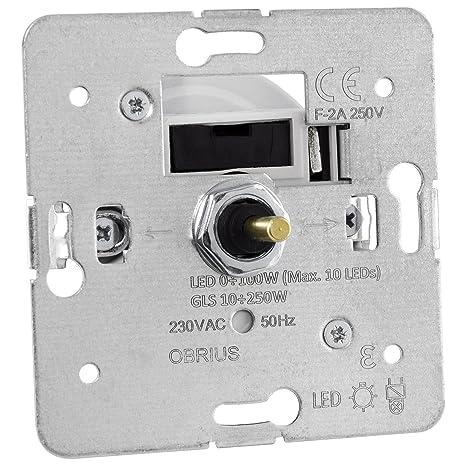 Regulador giratorio Universal para Bombilla LED de Intensidad Regulable, 0 – 100 W, DPI