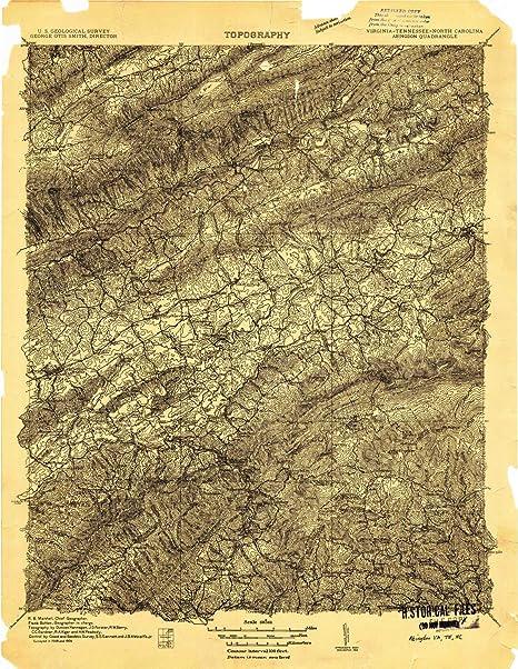 Abingdon Virginia Map.Amazon Com Yellowmaps Abingdon Va Topo Map 1 96000 Scale 30 X 30