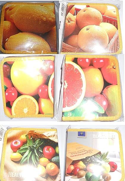 Estuche archivador capacidad 40 CD frutas verduras amarillo