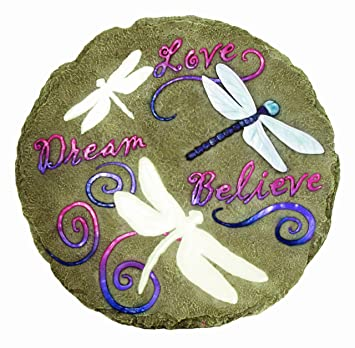 spoontiques dragonfly glow stepping stone - Decorative Stepping Stones