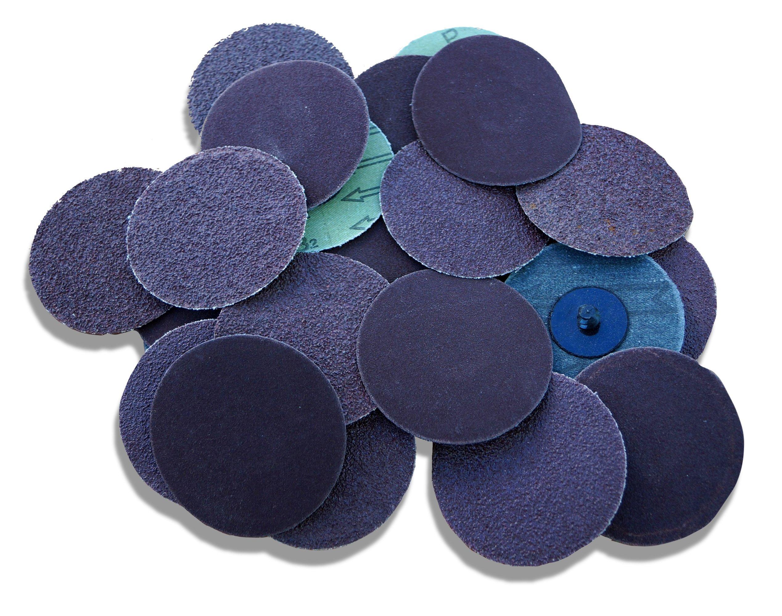25pc 3'' Roloc Assorted 5 Each 36-220 Grit R Type Sanding Abrasive Discs