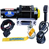 Superwinch 1140230 Black LT4000SR Winch 4,000 lbs, 12 VDC, 3/16 in x 50 ft Synthetic Rope, Sealed Solenoid, 12 ft…