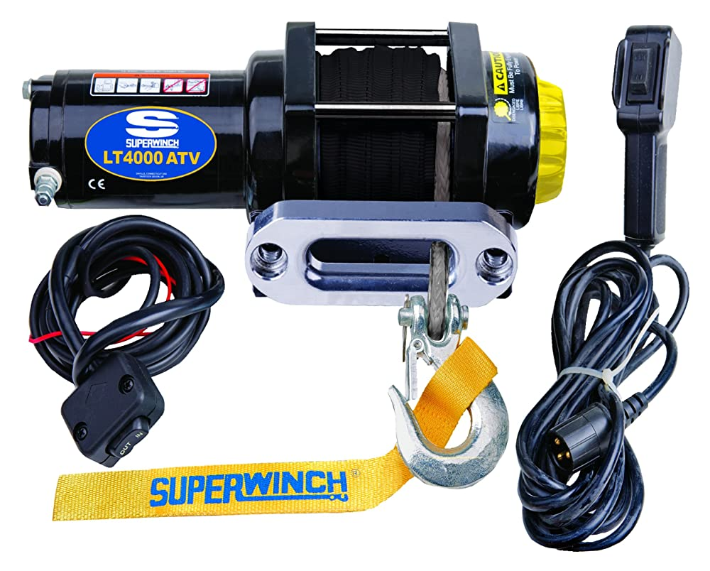Black 12 VDC LT4000ATV Superwinch (1140230)