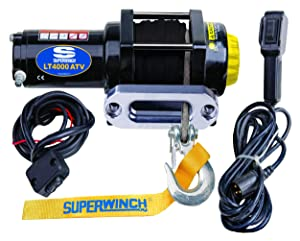 Superwinch (1140230 Black 12 VDC LT4000ATV SR Winch - 4000 lb. Load Capacity
