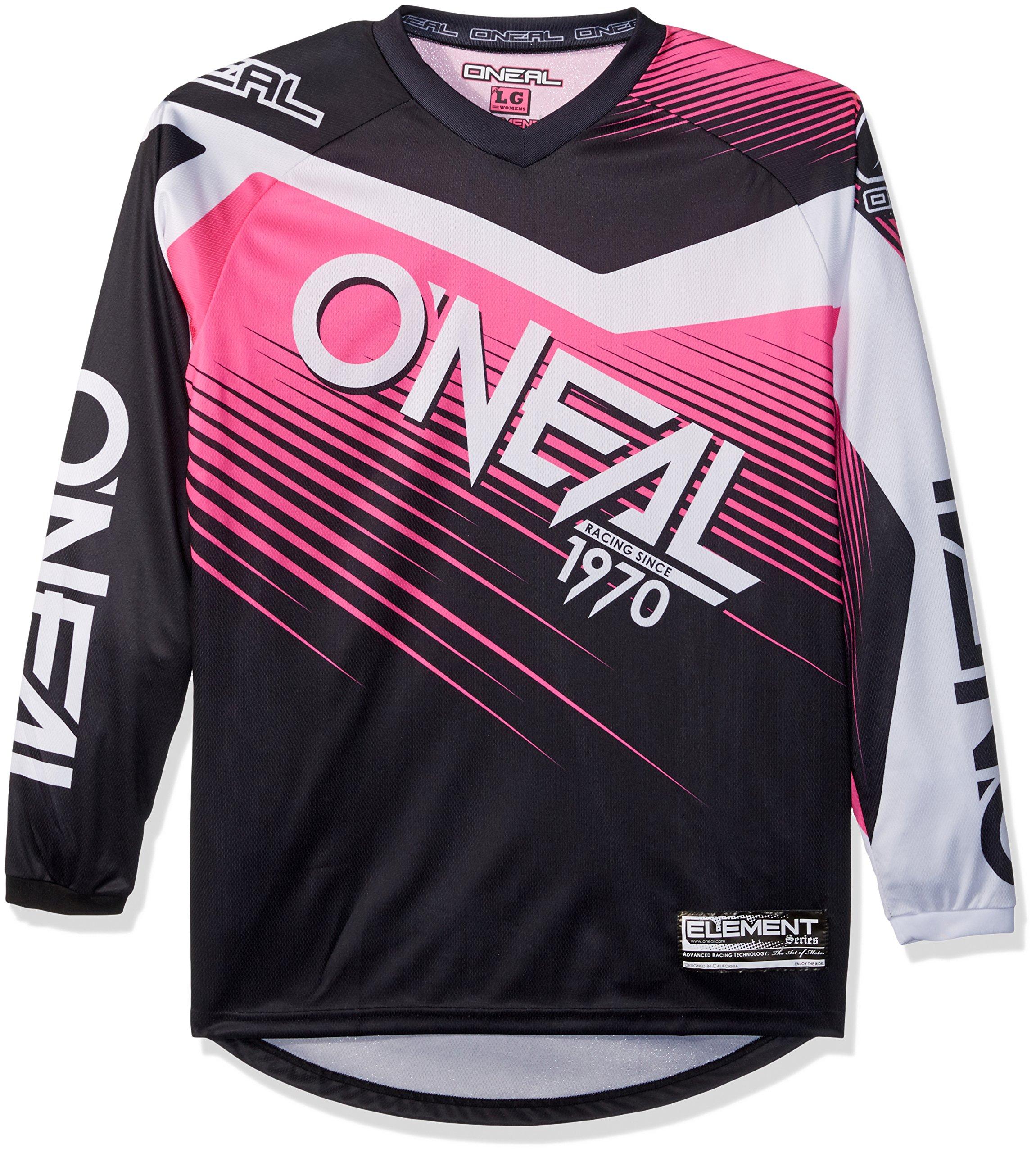 O'Neal 0008-704 Women's Element Racewear Jersey (Black/Pink, Large)