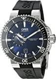 Oris Men's 'Aquis' Swiss Automatic Stainless Steel and Rubber Casual Watch, Color:Black (Model: 74376734135RS)