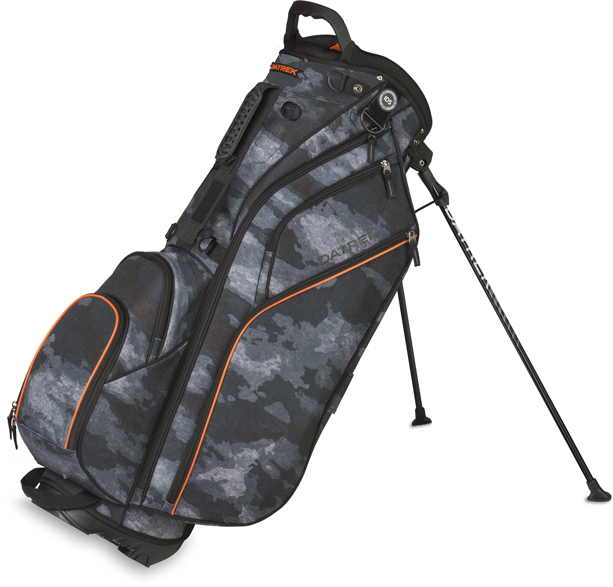 Datrek Golf Go Lite Hybrid Stand Bag (Urban Camo/Orange) by Datrek