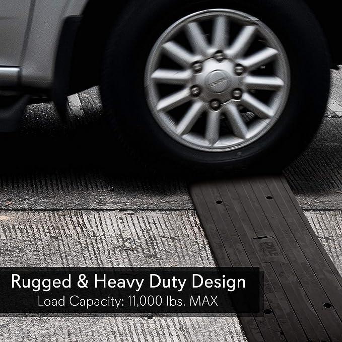Amazon.com: Pyle Car Driveway – Rampa de goma resistente ...