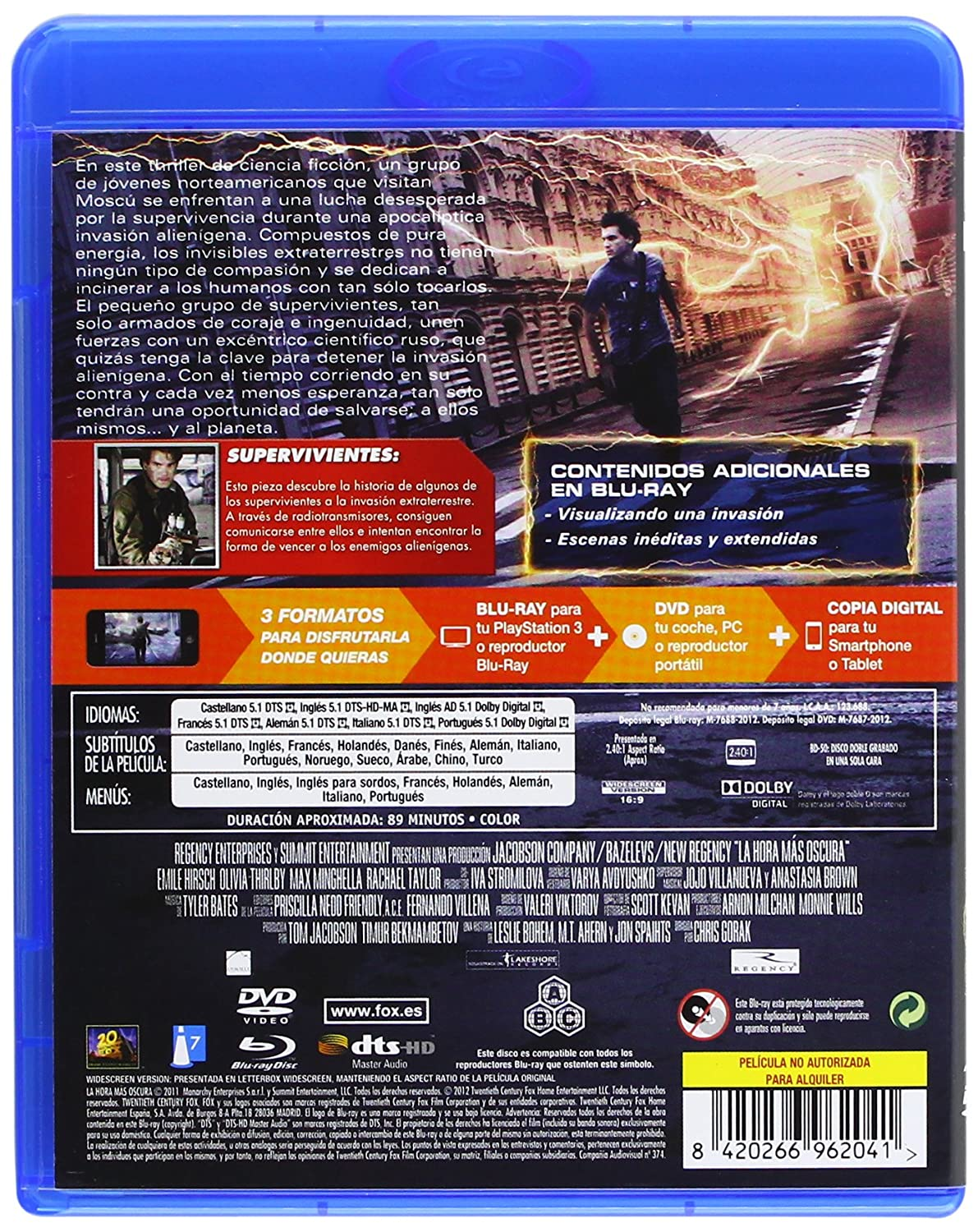 Amazon.com: La Hora Mas Oscura (Bd+Dvd+Copia Digital) (Blu-Ray) (Import Movie) (European Format - Zone B2) (2012) Hirsch,: Movies & TV