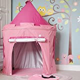 Princess Tent with UV protection - Includes attachable pink tunnel - Pop up Tent