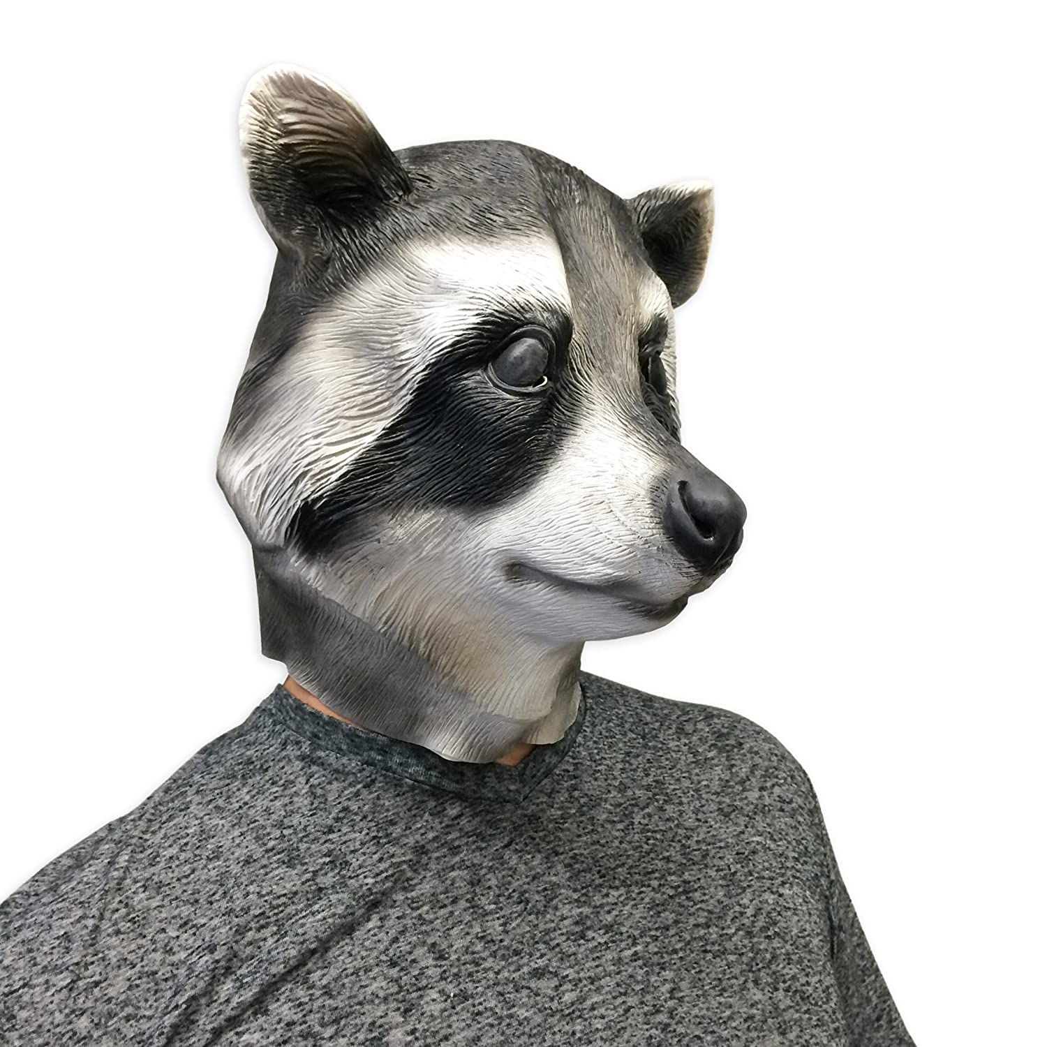 Amazon.com: Cool Raccoon Halloween Face Mask - Off the Wall Toys ...