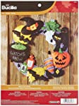 Bucilla Witch's Brew Wreath Felt Applique Wall Hanging Kit, 86563 17 by 17-Inch