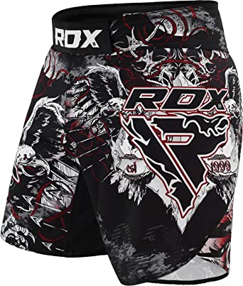 RDX MMA Pantalones Entrenamiento Kickboxing Cortos Artes Marciales Boxeo Shorts