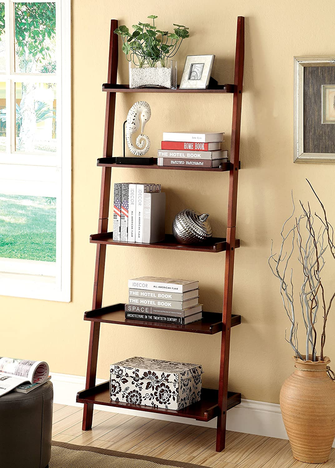 Amazon.com: Furniture of America Klaudalie 5-Tier Ladder Style ...