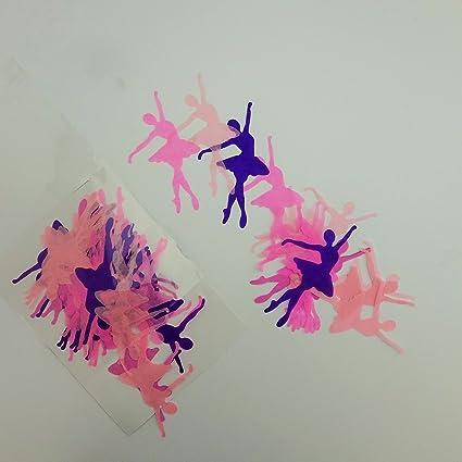 Ballerina 34g confetti pink hearts purple decorations table birthday ballet