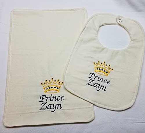 Crown Prince Embroidered Baby T-Shirt Gift Personalised Boy