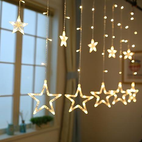Stringa Luce Natale Luci Natalizie Led Interno Tenda Luminosa Per Camera Da  Letto, Festa,