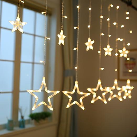 Stringa Luce Natale Luci Natalizie Led Interno Tenda Luminosa per ...