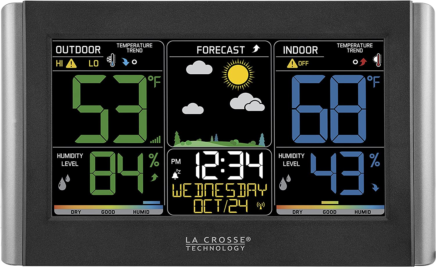 Amazon Com La Crosse Technology C85845 1 Color Wireless Forecast Station Home Kitchen