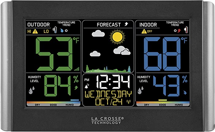 La Crosse Technology C85845 Color Wireless Forecast Station