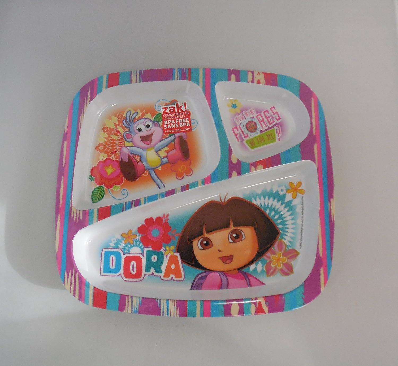 Zak! Designs Three Section Plate - Dora by Zak Designs   B003M54BV4