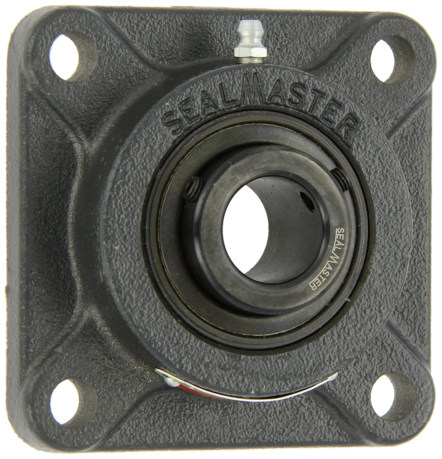 Sealmaster MSF-24 Medium Duty Flange Unit, 4 Bolt, Regreasable, Felt