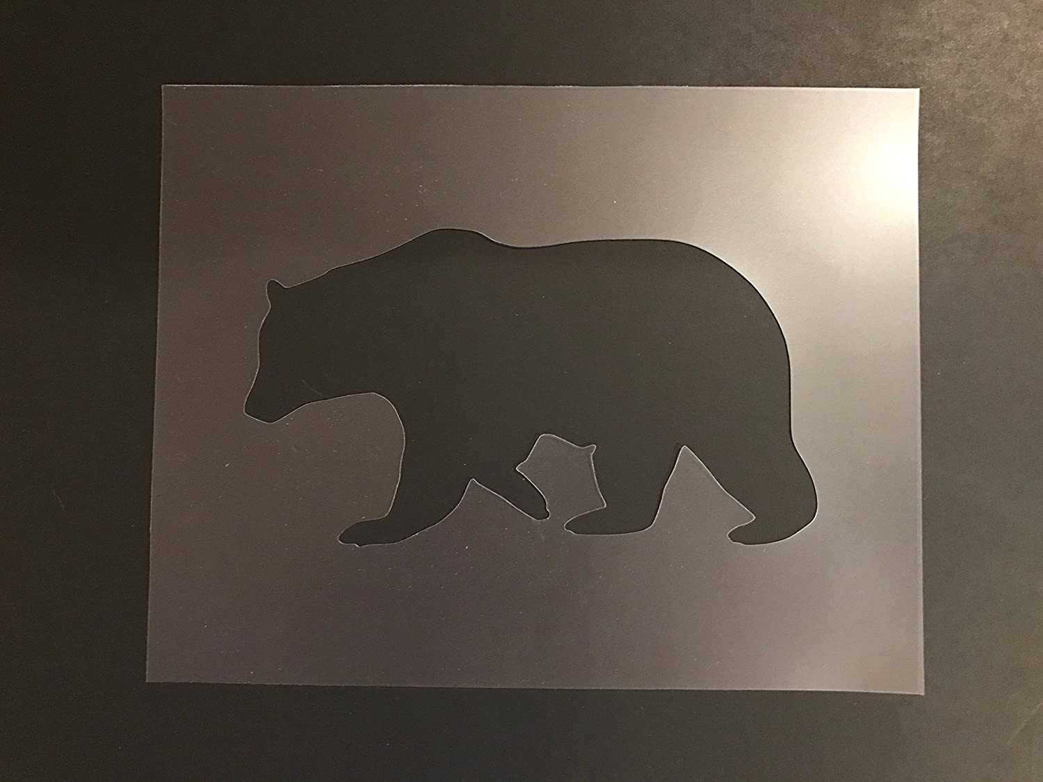 Bear Stencil #2 Reusable 10 mil Thick 7in x 9in sheet