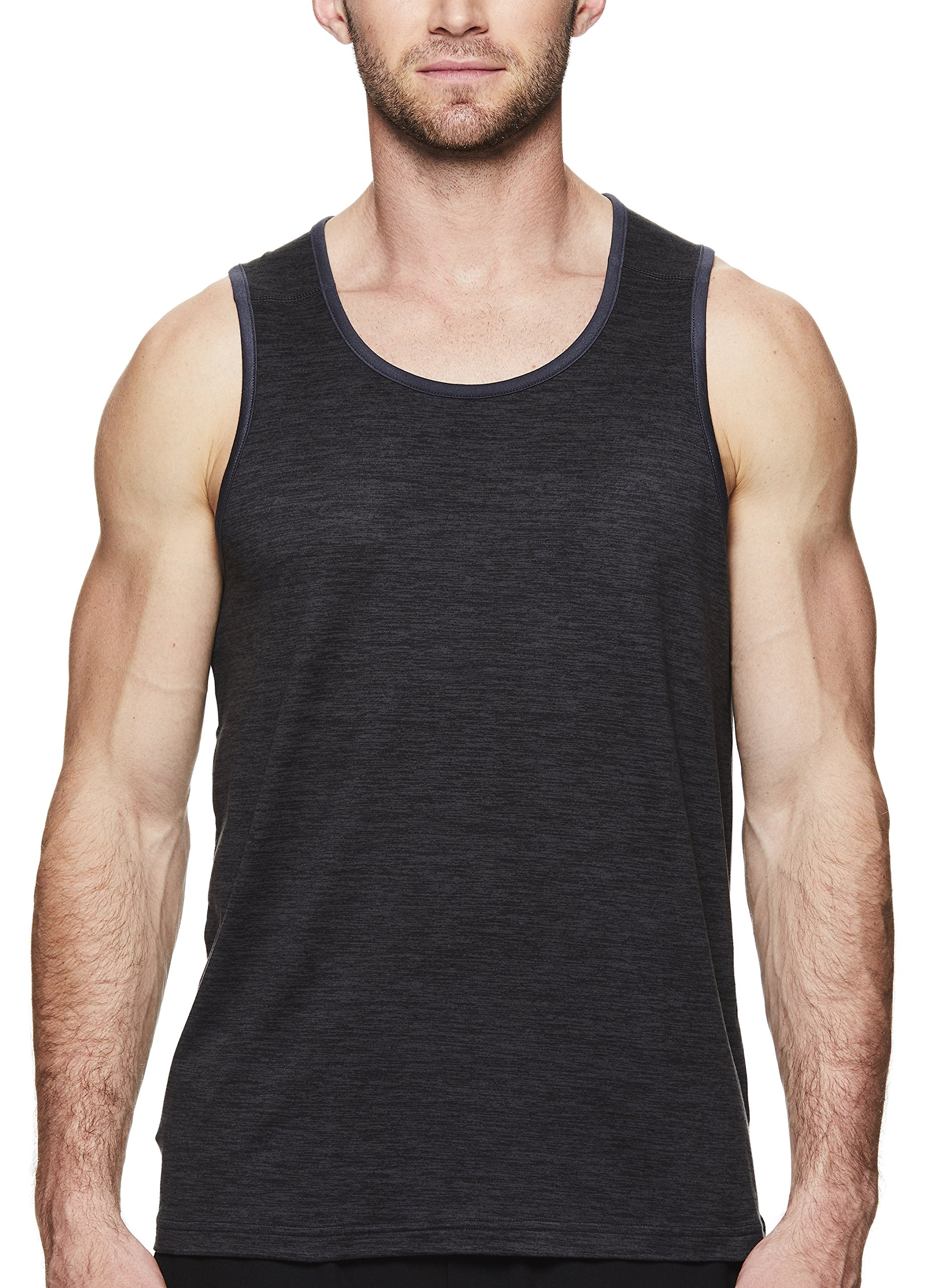 Gaiam Men's Everyday Basic Muscle Tank Top - Sleeveless Yoga & Workout Shirt - Black Heather Everyday, Medium