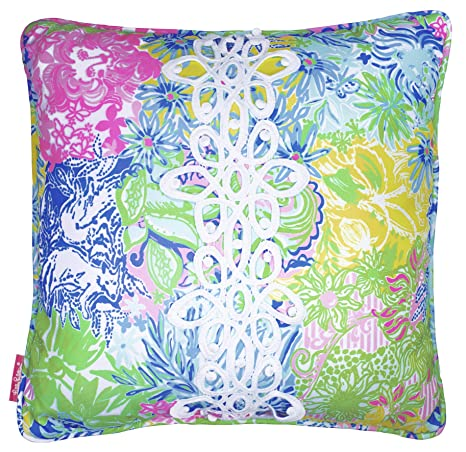 1ec34912694992 Amazon.com : Lilly Pulitzer Indoor/Outdoor Large Decorative Pillow, Cheek  to Cheek : Garden & Outdoor
