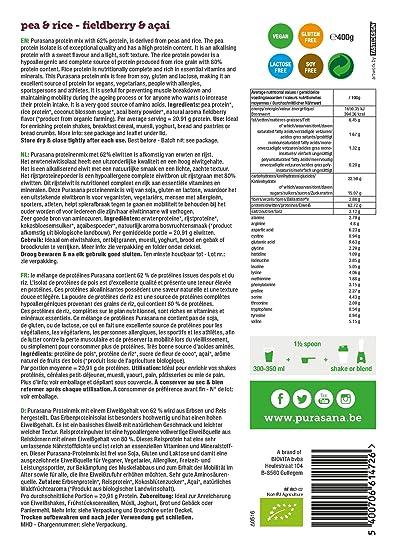 Mix Vegan proteines lunares/Arroz/Acai/Frutas des madera Bio 400 g: Amazon.es: Salud y cuidado personal