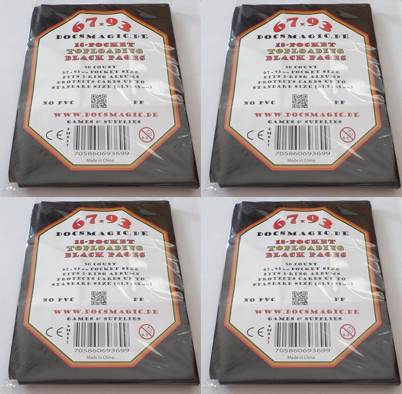 docsmagic.de 100 9-Pocket Pages - 11-Hole - 3-Ring Album - MTG - Yu-Gi-Oh! - Pokemon - Juego de fundas para cartas para jugar y coleccionar - hojas de 9 bolsillos