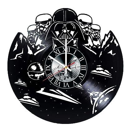 Star Wars Darth Vader Handmade Vinyl Record Wall Clock - Get Unique Bedroom livingroom Wall Decor
