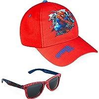 Marvel Pack de Gorra Niño y Gafas de Sol Infantiles de Spiderman y Los Vengadores, Gorra Infantil, Gafas de Sol Niño…