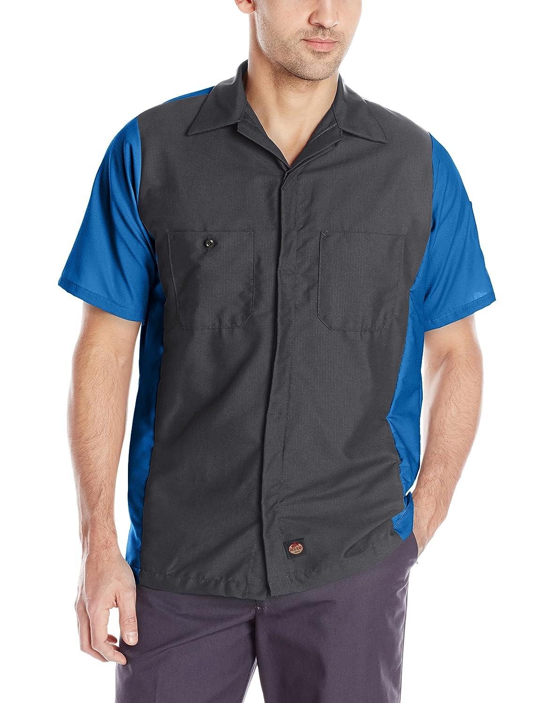 Red Kap メンズクルーシャツ B00ICTMLJY S|チャコール/ブルー チャコール/ブルー S